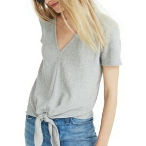 Madewell texture and thread modern tie v-neck